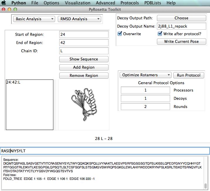 Pyrosetta Toolkit GUI